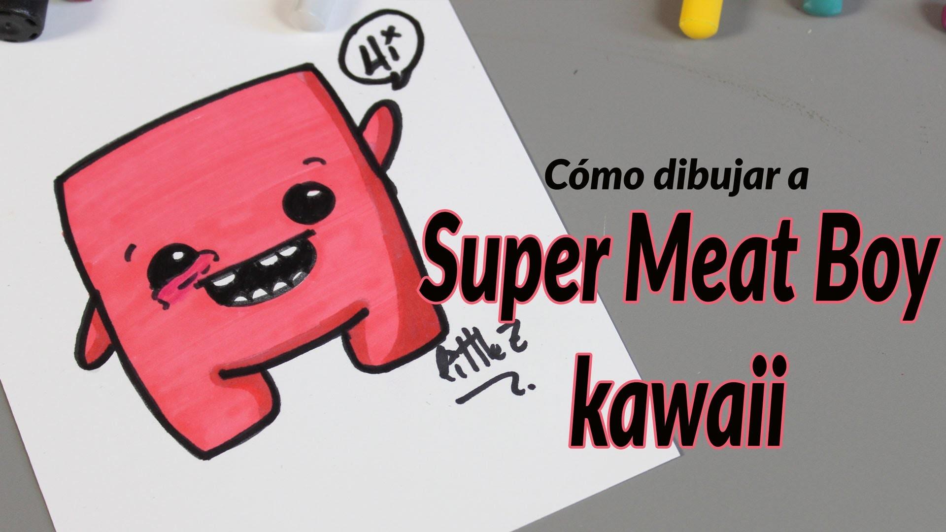 Cómo dibujar a super meet boy kawaii