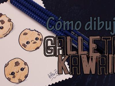 Cómo dibujar galletas kawaii. How to draw a kawaii cookies