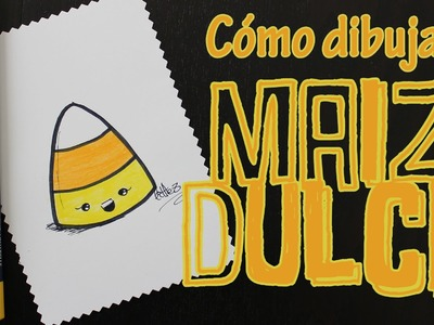 Cómo dibujar maiz dulce kawaii. How to draw a kawaii sweet corn