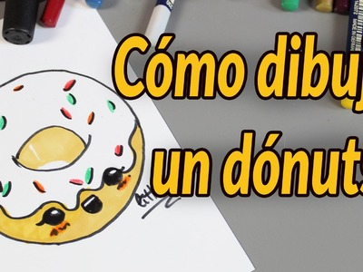 Como dibujar un dónuts, dona, berlina o rosquilla. How to draw a donuts