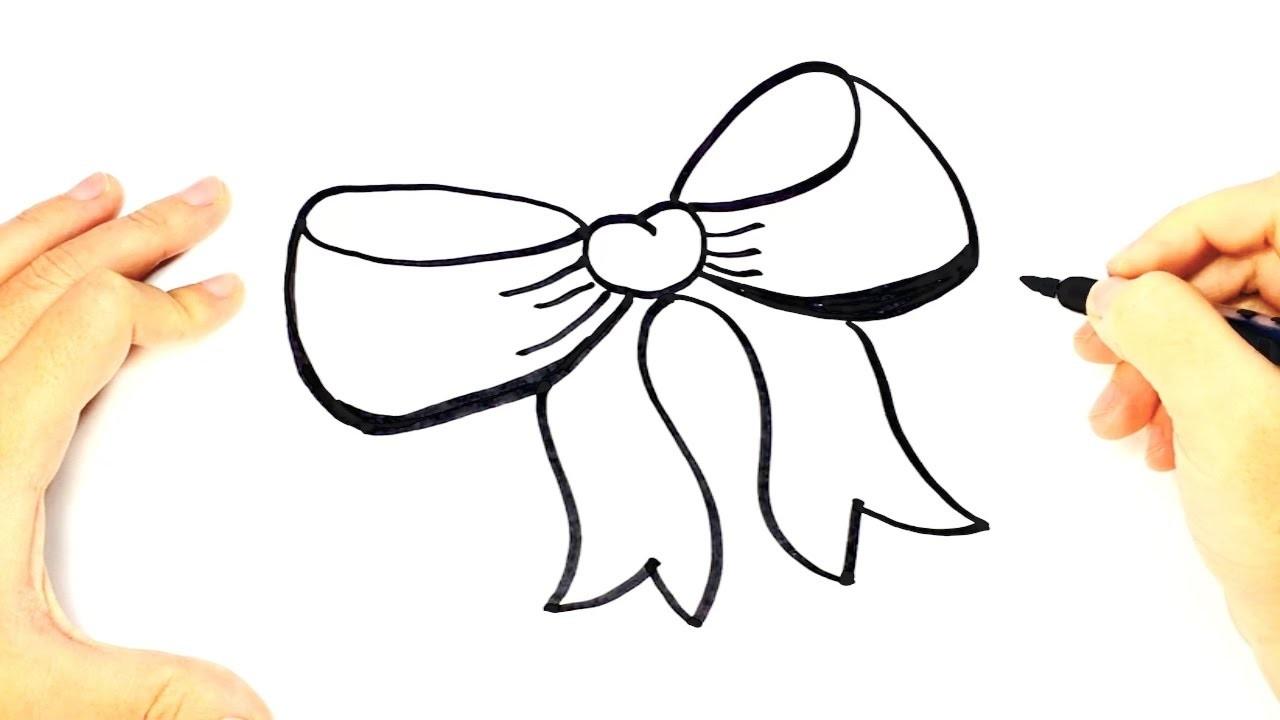 Cómo dibujar un Lazo para niños, Dibujo fácil de un Lazo paso a paso