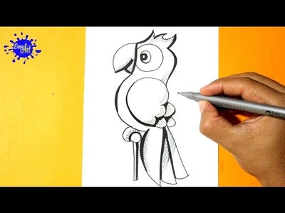 Como Dibujar un Loro l How to Draw a parrot l Como Dibujar animales
