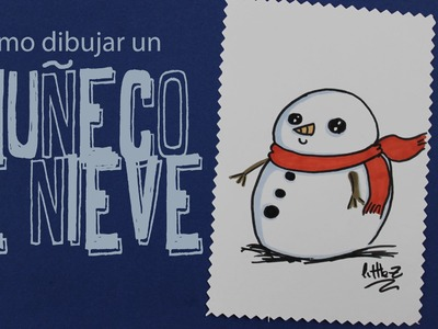Cómo dibujar un muñeco de nieve. How to draw a snow man