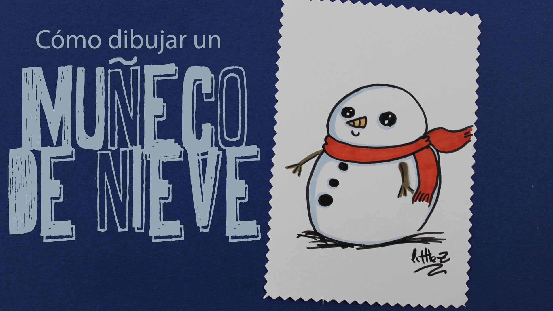Cómo dibujar un muñeco de nieve. How to draw a snow man