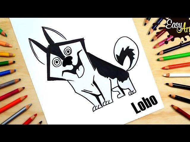 Cómo dibujar un perro lobo│how to draw a Wolf dog│ How To Draw
