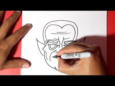 Como dibujar un vampiro - how to draw a vampire halloween