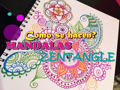 COMO HACER MANDALAS.ZENTANGLE ART