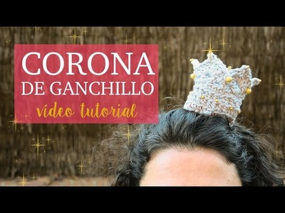 Corona de ganchillo con diadema - nivel intermedio