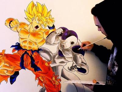 DIBUJANDO A LO GRANDE | Mural Goku VS Freezer | +35 Horas trabajo | Wall Painting | ArteMaster