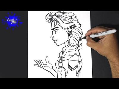 Elsa of frozen - Drawing Elsa de Frozen