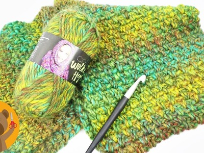 Gran bufanda para el invierno | Patrón perlas | Tutorial para tejer con lana y ganchillo