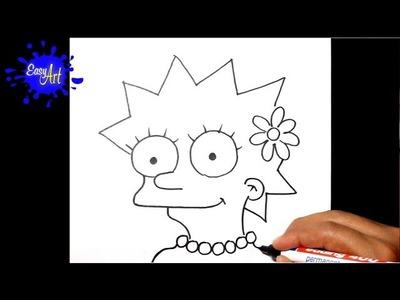 How to draw lisa simpson - como dibujar a lisa simpson - the simpson