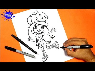 How to draw Strawberry Shortcake 2 l Como dibujar a fresita rosita 2