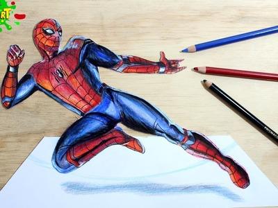 SPIDERMAN│Cómo Dibujar Hombre Araña│How to draw spider Man