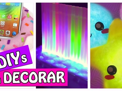 3 DIYs PARA DECORAR - COJINES CON LUZ, LAMPARA LEDS Y SOPORTE - Innova Manualidades (recopilación)