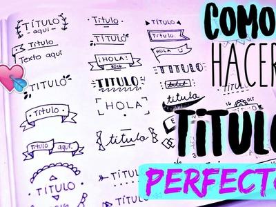 30 IDEAS de TITULOS BONITOS para DECORAR tus CUADERNOS!!