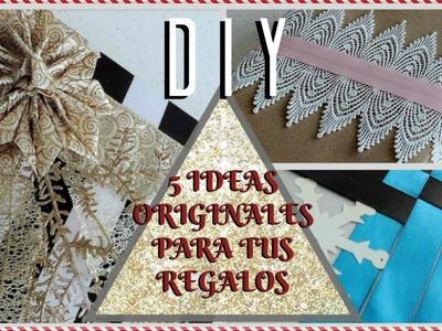 5 IDEAS ORIGINALES PARA ENVOLVER TUS REGALOS! Paola Herrera