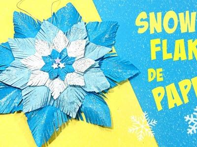 Adornos Navidad: Snow flake, copo de nieve de papel.
