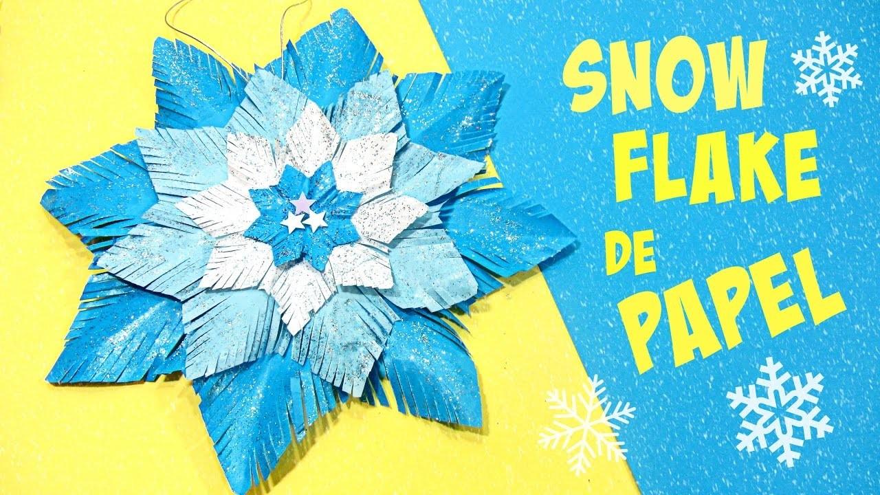 Adornos navidad snow flake copo de nieve de papel - Adornos navidad de papel ...