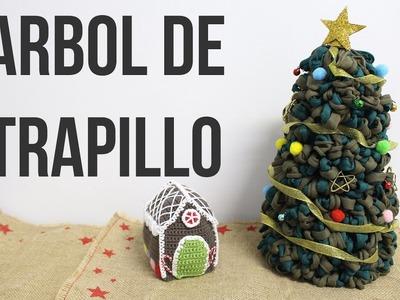 Arbol de Navidad de Trapillo sin tejer | Súper fácil