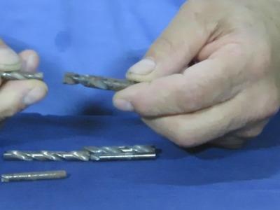 Brocas o Mechas Quebradas  Como Reutilizarlas .  Broken Drills How to Reuse