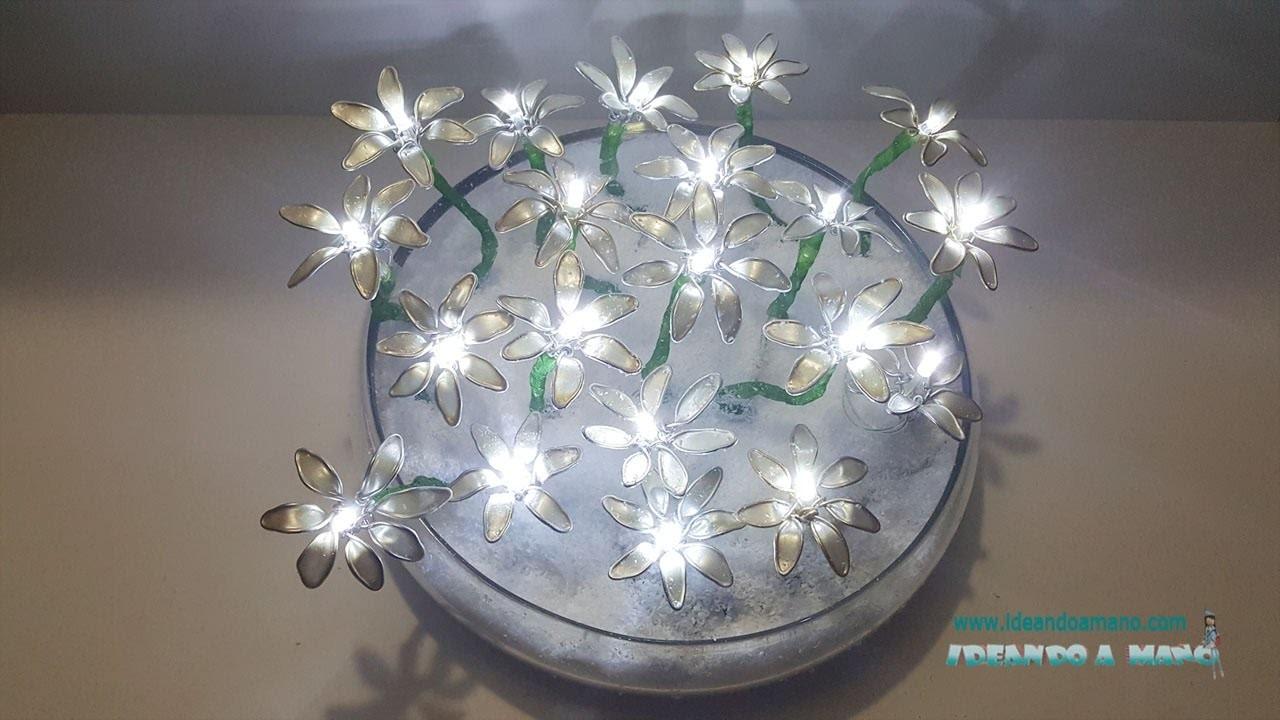 Centro de flores con luces
