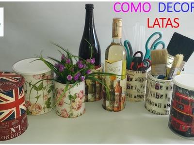 COMO DECORAR LATAS CON LA TÉCNICA DECOUPAGE (VERSIÓN FÁCIL)