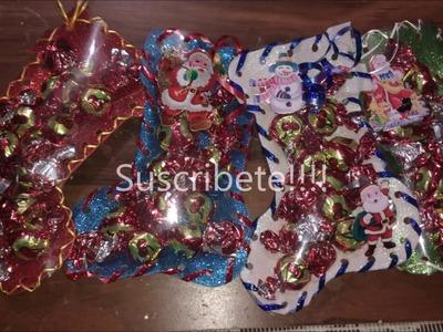 Como hacer botitas navideñas, dia de reyes con chocolates Chocoregalo