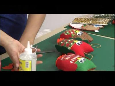 Como hacer Buhos navideños. 4.5
