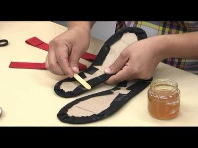 Como hacer sandalias. 2.5