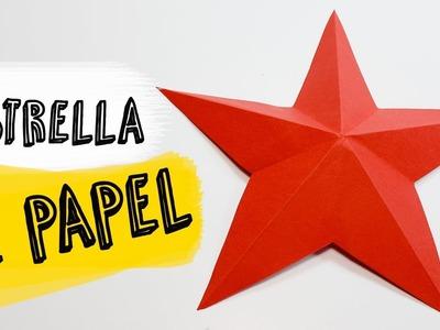 Cómo hacer una Estrella de Papel fácil | Estrella de Papel Origami