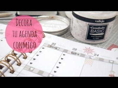 Decorando mi agenda para Navidad. Plan with me Xmas edition. DN2016 Episodio 10