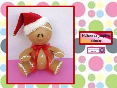 ♥♥ MUÑECO DE JENGIBRE FOFUCHO♥♥ decoraciones navideñas- ♥♥ CREACIONES mágicas♥♥