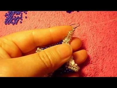 Peyote stitch es muy fasil de hacer y los aretes me quedaron bellos#01