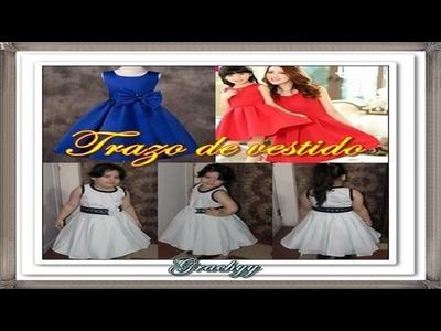 Trazo de vestido elegante para niñas