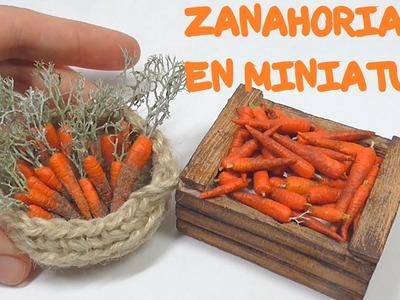 ZANAHORIAS EN MINIATURA PARA BELEN Y CASAS DE MUÑECAS