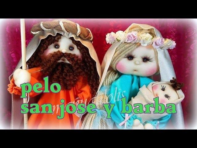 BELEN MANUALILOLIS,  pelo y barba de san josé , 5.8, video- 208