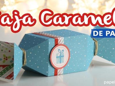 Cajas de regalo originales: Caja caramelo de papel con medidas