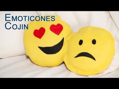 Cojin Emoji o Emoticono de Dos Caras Sin Coser