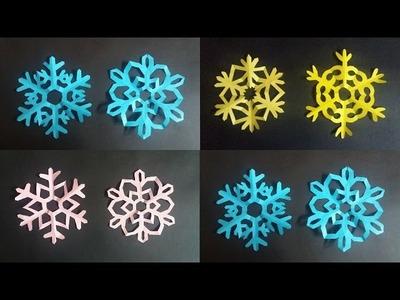 Como hacer Copos de nieve de papel - Paper snowflakes Origami(Tutorial)