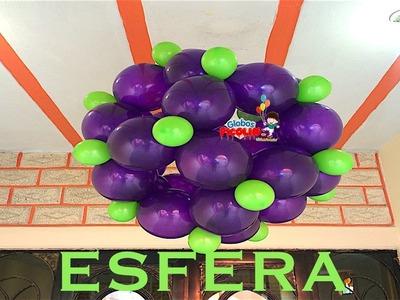 Como hacer esfera con globos bipolo , quick link o link a loon # 23