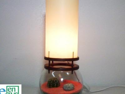 Como hacer un Jardin Zen con Lampara Paso a Paso