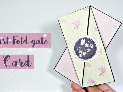 Cómo hacer una Twist Gate Fold Card o Tarjeta Oblicua FÁCIL