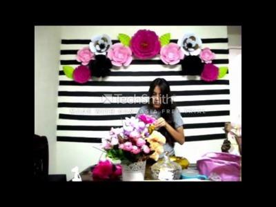 Decoracion de fiesta con flores | 40 años
