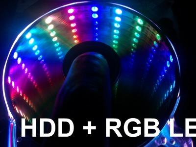 Disco rigido con LEDs RGB, muy facil de hacer