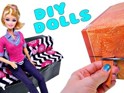 DIY Sofa Para Barbie Como Hacer un Sofa ❤ Crea Mubles Para tus Muñecas