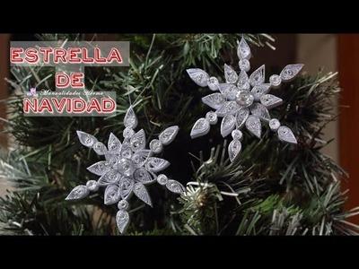 Estrella de Navidad en filigrana