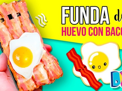 FUNDA para MOVIL o CELULAR de HUEVO CON BACON * DIY Fundas caseras originales