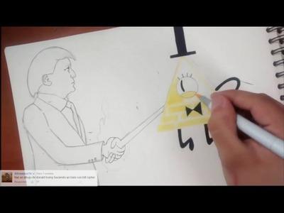 Gravity Falls- Bill Cipher and Donald Trump (A secret deal) Speed Draw