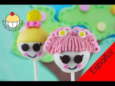 ¡Paletas de Torta de Lalaloopsy! Haz Paletas de Torta de Muñecas Lalaloopsy -- Cupcake Addiction